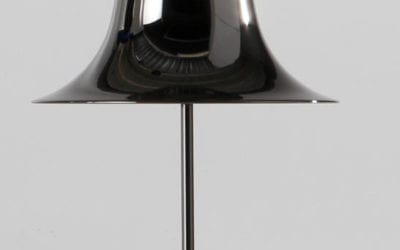 PANTOP BORD LAMPE -SORT CHROME