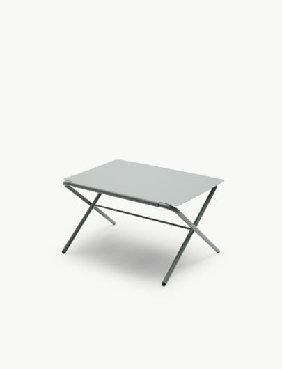 Bow Table Low, Stale Grey, Steel